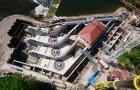 Luftaufnahme der Wasserkraftanlage Öblitz (Foto: KEHL)