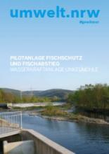 """Cover der Broschüre """"Pilotanlage Fischschutz und Fischabstieg"""""""
